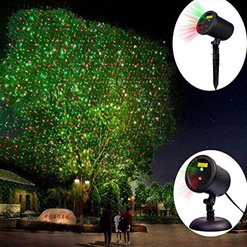 Cerchio Static Outside Christmas Lights Projector Outdoor Indoor Mains Xmas Landscape Ip65 Waterproof Red And Green Get Ahead Christmas