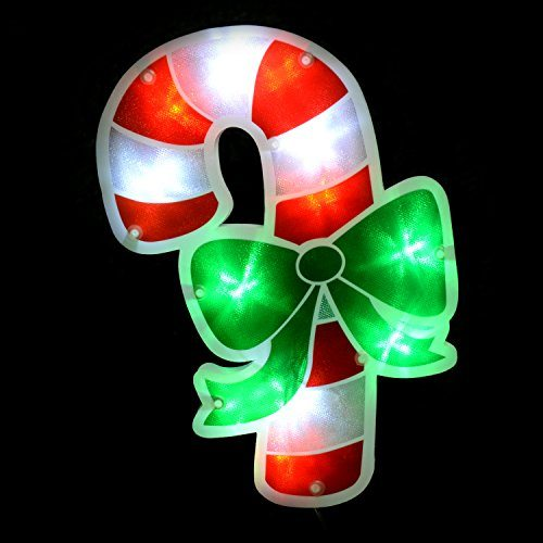 Werchristmas Candy Cane Pathway Christmas Lights Double